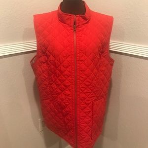 J Jill Red heritage quilted vest